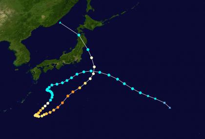 複雑な動きをした台風3選(①平成28年台風10号)